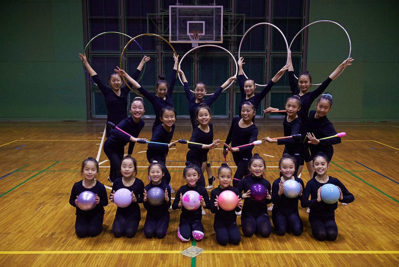 新体操クラブの選手クラス