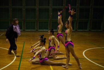 新体操教室の練習風景